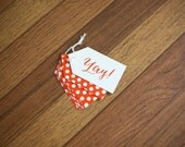 SALE Yay Gift Tags, set of 12