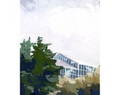 """4x6"""" print - small landscape - """"Landscape with Greenhouse"""""""