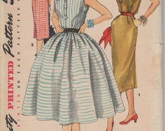 FACTORY FOLDED 1950's Misses Shirtwaist Dress Simplicity 1118 Size 12 Bust 30