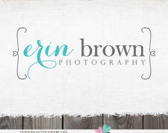 Premade Logos Photography logo Heart Logo logos for photographers logos and watermarks premade logo photography logos