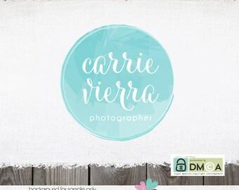 Watercolor Logo Photography Logo Premade Logo Circular Logo Boutique Logo Photography Logos and Watermarks Ocean Logo Sky Logo Sewing Logo