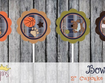 """Lambs & Ivy Bow Wow 2"""" Cupcake Toppers - Set of 12"""