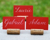 Single Wine Cork Place Card Holders or Table Number Holders for Weddings, Bridal Showers, Vineyard Winery Theme, Affordable Wedding Decor