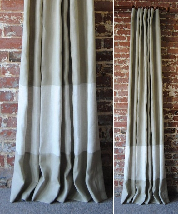 108 Banded Drapery Panel custom curtains 28 color