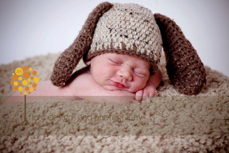 Crochet Pattern For Baby Dungarees : Crochet Pattern for Puppy Dog Hat 5 Sizes baby to adult