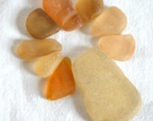 Rare Orange and Yellow Seaglass Shards, Utter Perfction, Jewerly Supplies for Wire Wrapping or Craft