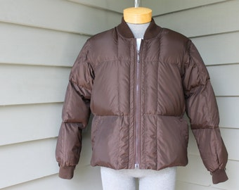 vintage 70's - 80's Men's -Sears - 'Fieldmaster'- puffy jacket/vest combo. 'New Old Stock'. Down insulated - Removable sleeves. Large 42-44