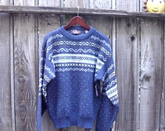 Unisex Nordic Wool Sweater with tag Made in Italy