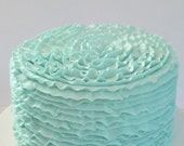 Mint Ruffle Fake Cake Photo Prop, Home Accents, Shop Displays, Party Decorations, Elegant Wedding Centerpiece