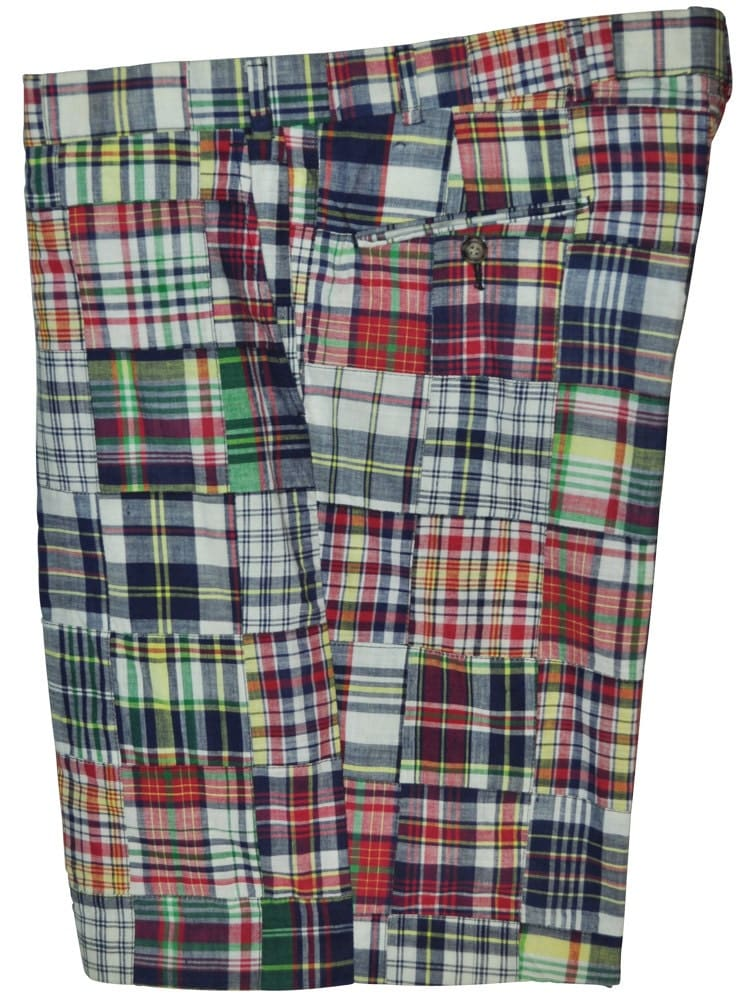 jos a bank 40 waist patchwork plaid cotton shorts. Black Bedroom Furniture Sets. Home Design Ideas