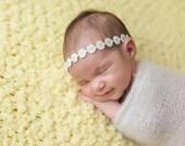 Daisy headband-newborn, babies,spring, summer, Easter, photo prop, newborn halo