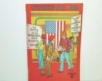 Vintage 1978 Citizenship Skill Book from The Boy Scouts of America
