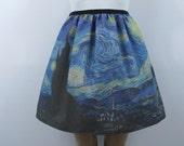 Van Gogh Starry Night skirt - made to order