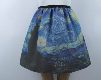 Van Gogh Starry Night skirt - made to order