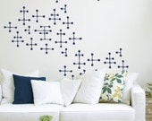 Charles & Ray Eames Style Dot Pattern Wall Decals - Stickers - Removable Clings - FREE SHIPPING