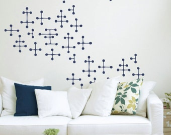 Charles & Ray Eames Style Dot Pattern Wall Decals | Mid Century Modern Stickers | Trendy Wall Decor | FREE SHIPPING