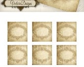 Blank Vintage Labels - printable / add your own text - VD0713