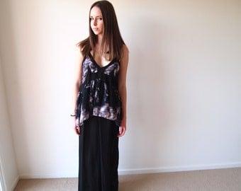 Vintage Maxi Dress With Peplum