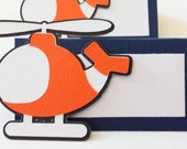 Coast Guard Helicopter Food Tags Place Holder Set of 12 By Your Little Cupcake