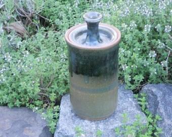 Lidded Stoneware Pottery Jar