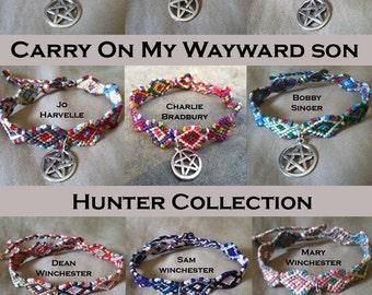 Carry On My Wayward Son Hunter Friendship Bracelet Collection