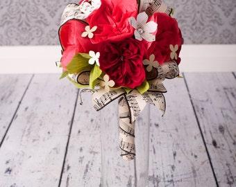 Bridal Bouquet - PAPER Wedding Bouquet - Handmade David Austin Paper Flowers