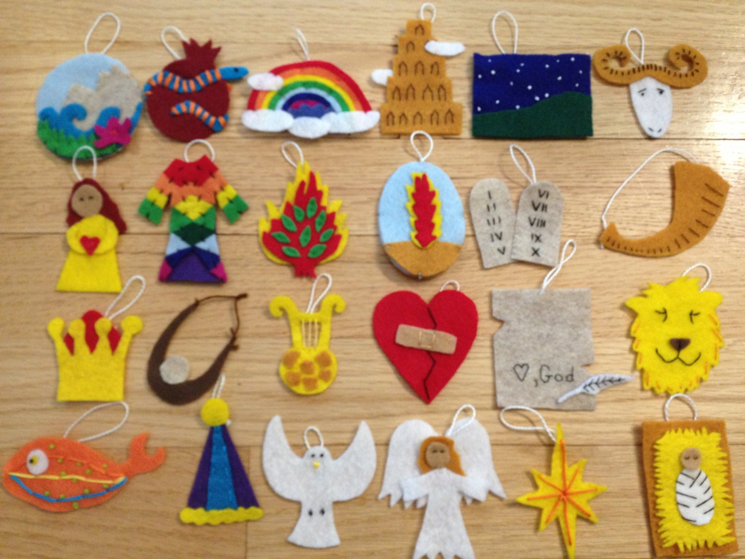 Tutorial For 24 Jesse Tree Ornaments Insipred By The Jesus
