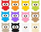 owls clipart digital clip art birds - Lots Of Owls Digital Clip Art