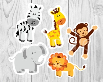 It's just a graphic of Ambitious Animal Cutouts Printable