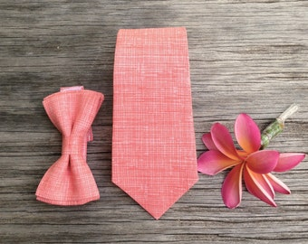 Peach Bow Tie - Ties for Boys - Ties for Men - Coral Bow Tie - Matching Father and Son Ties - Peach Bowtie - Ties for Baby - Bowtie for Boys
