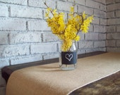 Natural Burlap Table Runner with Hemmed Edges, Choice of Size and Color, Rustic Table Runner, Country Kitchen Table Runner, Farmhouse Runner