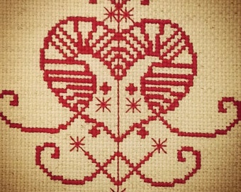 Erzulie Voodoo Veve Cross Stitch Pattern