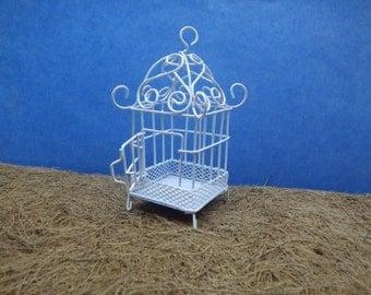 Fairy Garden Mini White Birdcage
