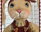 Primitive Bunny Pattern, Spring Pattern, Easter, PDF, E Pattern, cloth doll pattern, Dixie, Bunny Rabbit