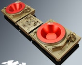 Deck-Tray MKII Deluxe Package ( Gold ) - Technics Inspired DJ Turntable and Mixer box Sculpture
