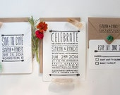 Simple Arrow Wedding Invitation Stamp Set, Huffington Post