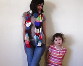 Extra fabulous multistrand scarf - Eco friendly - colorful t-shirt scarf