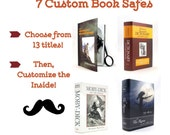 Personalized Groomsmen Gifts - Book Safe - Set of 7 - Best Man personalized gift with your own message inside FREE SHIPPING