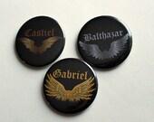 Balthazar - Gabriel - Castiel - Wings Badge | Button, Mirror, Magnet, Bottle Opener
