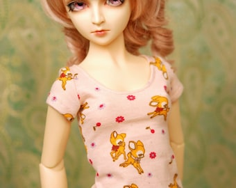 BJD Clothes Peach Deer Top For SD13, Elfdoll, Feeple 60 - Last One