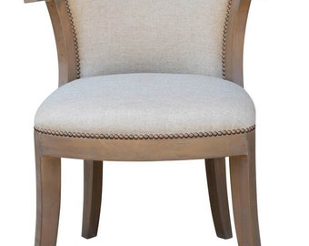 Barrymore Dining Room Chair Custom Made in Many Fabrics and Wood Finishes