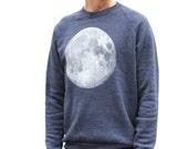 men's FULL MOON sweatshirt SUPER soft raglan alternative apparel