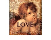 Vintage Cupid Love Heart Valentines Day  Be Mine / Scrabble Tile Images / Printable Digital Collage / .75x.83 sized tiles / Instant Download