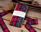 Red Plaid Ribbon Vintage Christmas Holiday Handmade Shirting Gift Wrap Western Fabric Trim Embellishment 5 Yards itsyourcountry