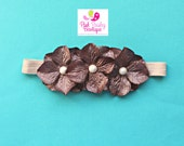 Brown Baby Headband - Newborn Headband - Infant Headband - Baby Hair Accessories - Brown Baby Hairbows - Baby Hairbows - Easter Gifts