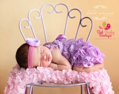 Romper-Newborn coming home outfit- 2pc Lavendar Petti Lace Romper Headband SET, Baby 1st Birthday, Baby Girl coming home Outfit, cake smash