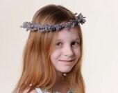 Lavender Flower Girl Crown - Real Dried Lavender Hair Wreath / Head Piece / Halo / Ages Newborn - 12 Years
