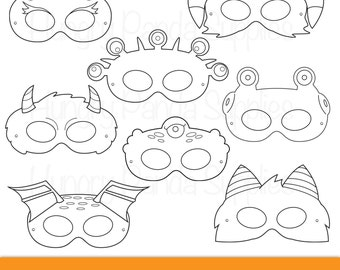 children s mask templates - printable coloring etsy