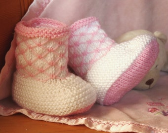 Baby Booties, Knitting Pattern, PDF download
