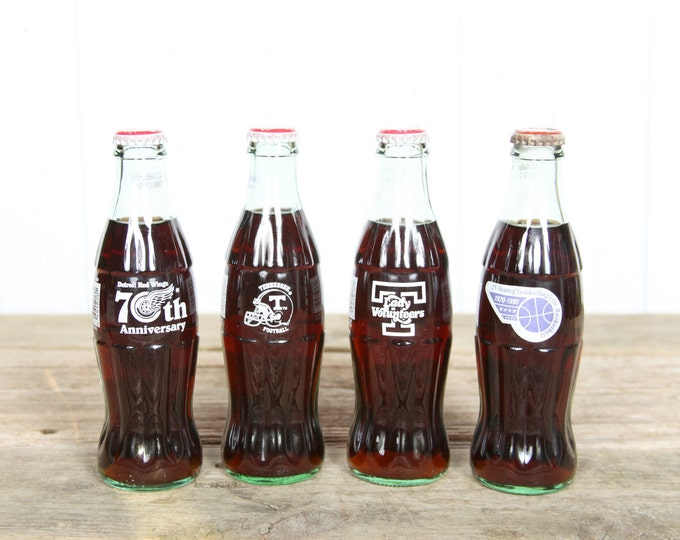 Vintage Coca-Cola Bottle / Old Coca Cola Bottles / Glass Coke Bottle / Collectible Coke Bottles - Tennessee - Red Wings - Vols - Basketball